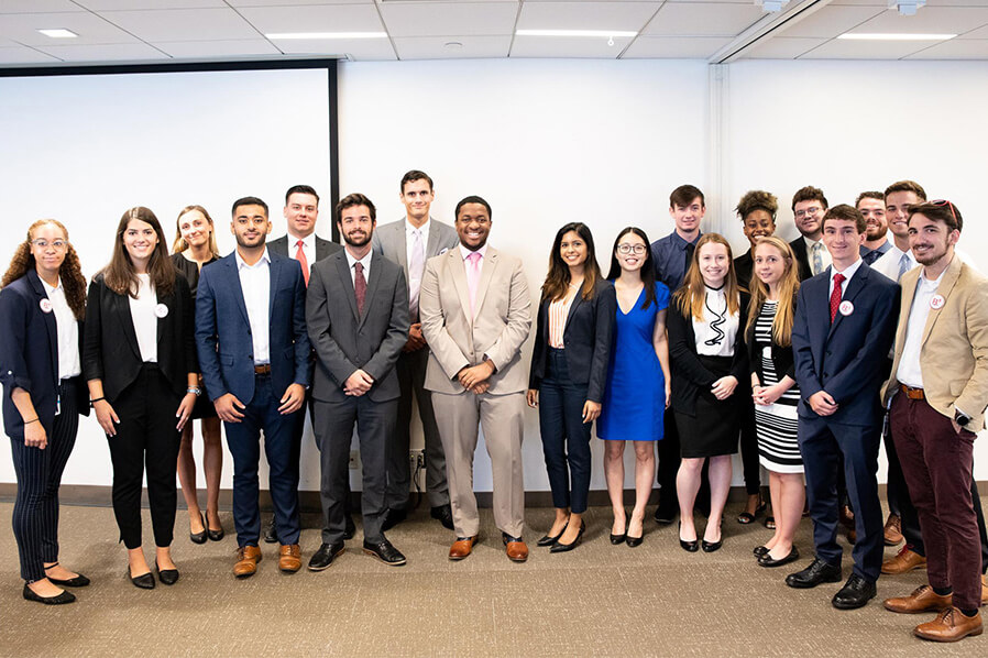 college interns at IBX