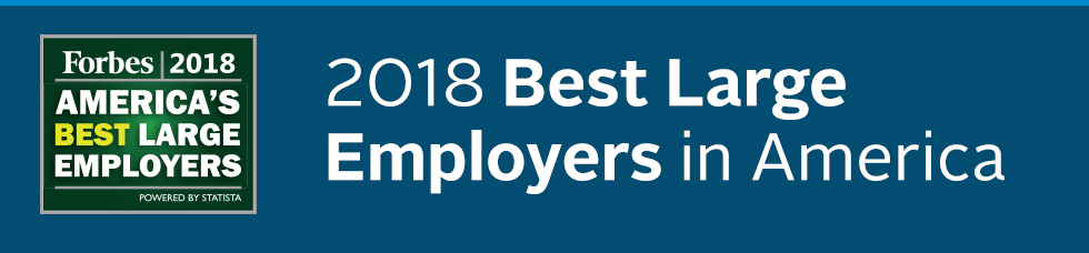 Independence Blue Cross earns Forbes Magazine's noted 2018 Best Large Employers of 2018.